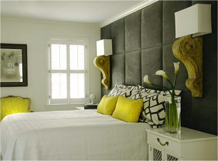 originales cabeceros modernos acolchados pared