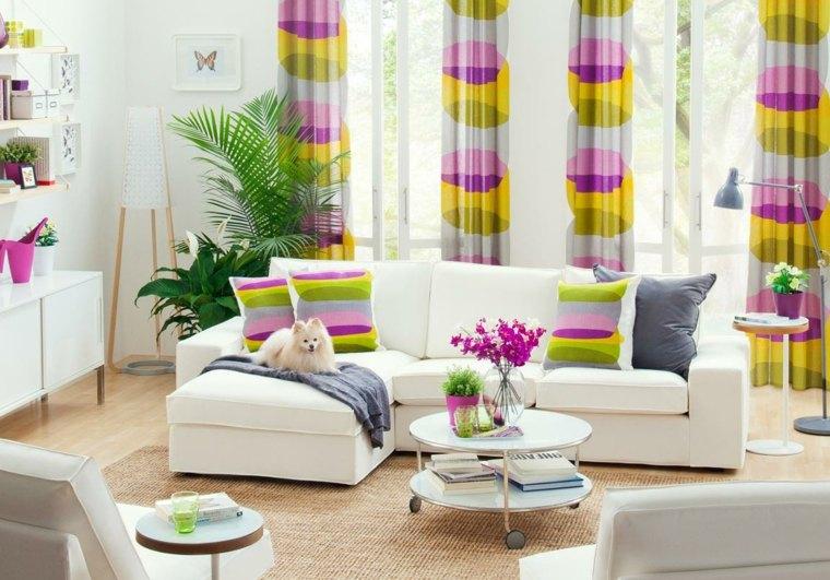 originales cortinas colores cojines colores