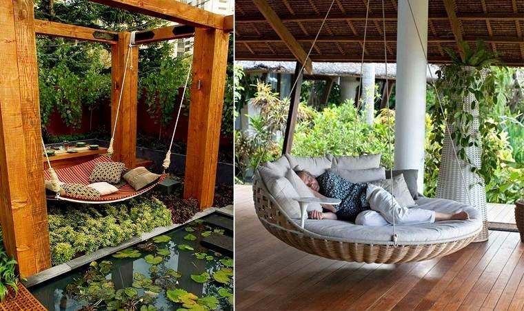 originales sillones camas colgantes