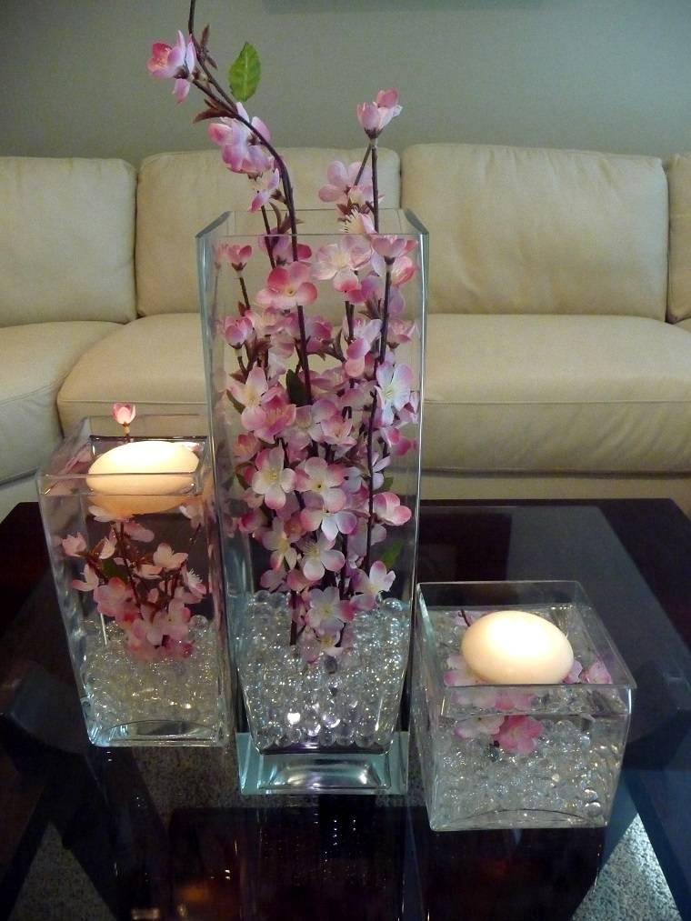 originales diseños centros velas flores