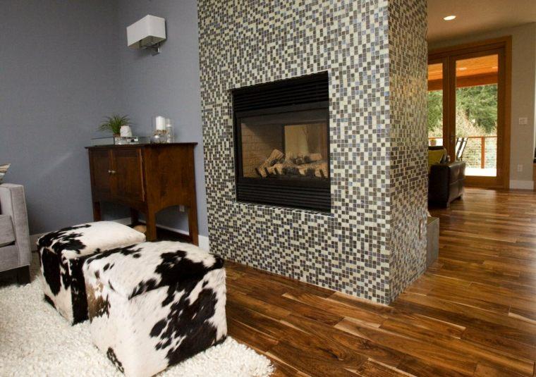 originales diseños chimeneas interior modernas