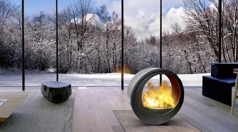 originales diseños chimeneas Eclypsya interiores