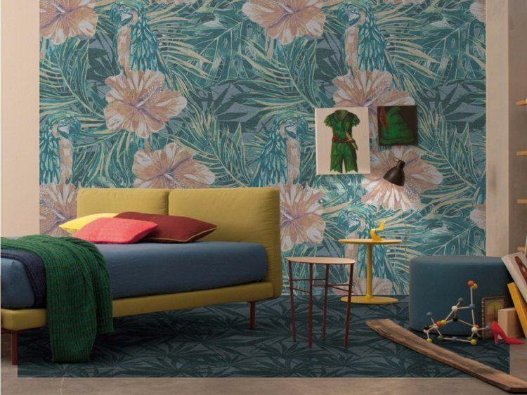 originales diseños interiores papeles pintados