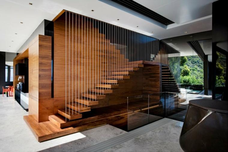 Escaleras de interior modernas 50 dise os que marcan for Gradas de madera para exteriores