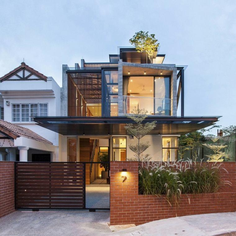 fachadas de casas modernas treinta y ocho dise os On diseños de casas 6x7