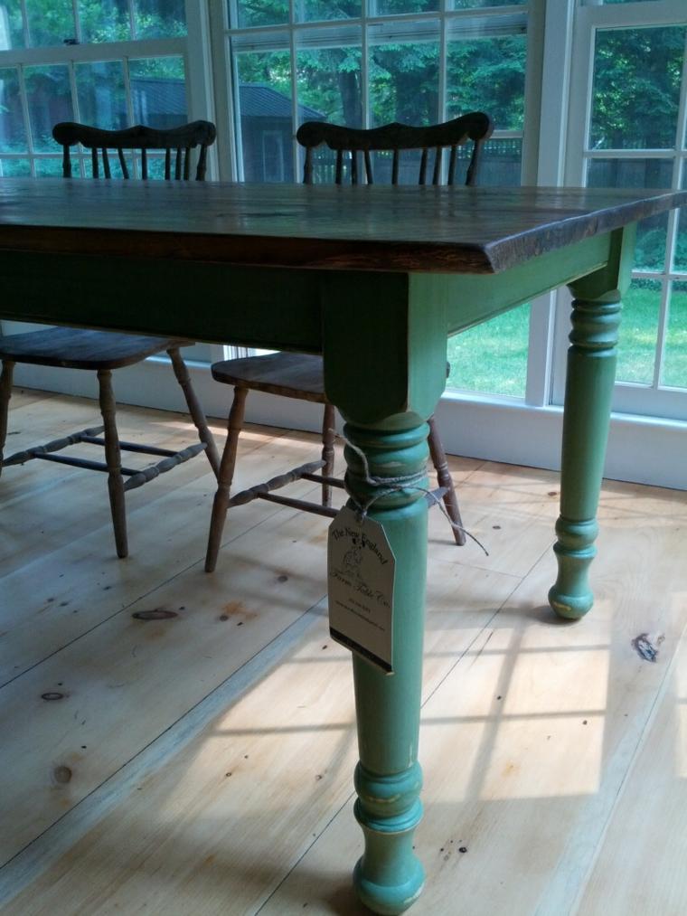 Mesas de comedor modernas de madera maciza 50 ideas - Mesas comedor originales ...