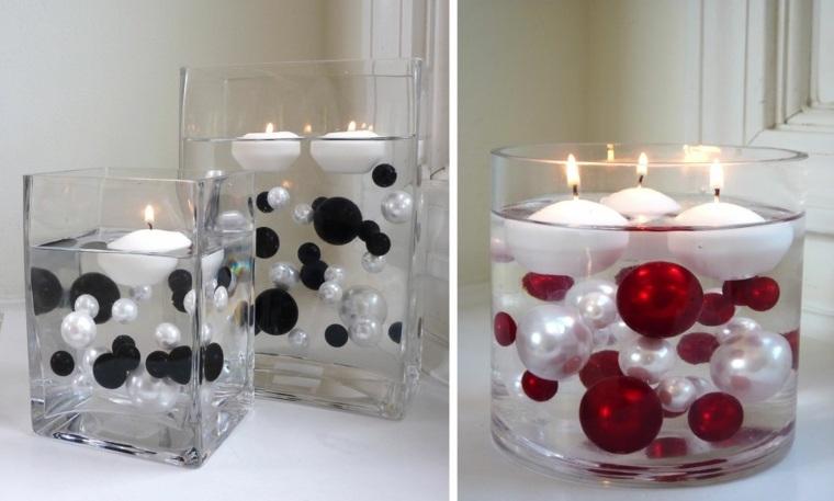 originales cuencos cuadrados velas perlas