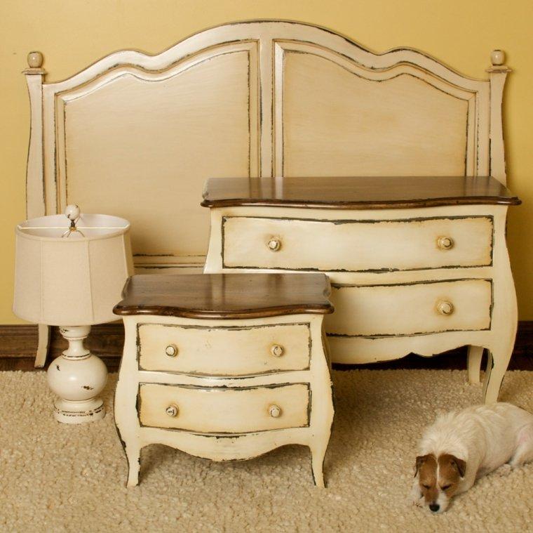originales muebles beige estilo vintage