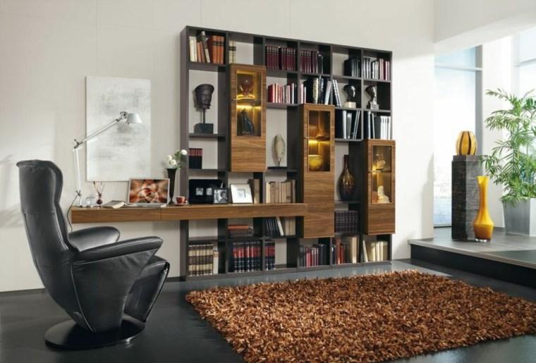 Bibliotecas grandes para salas de estar modernas for Libros de muebles de madera