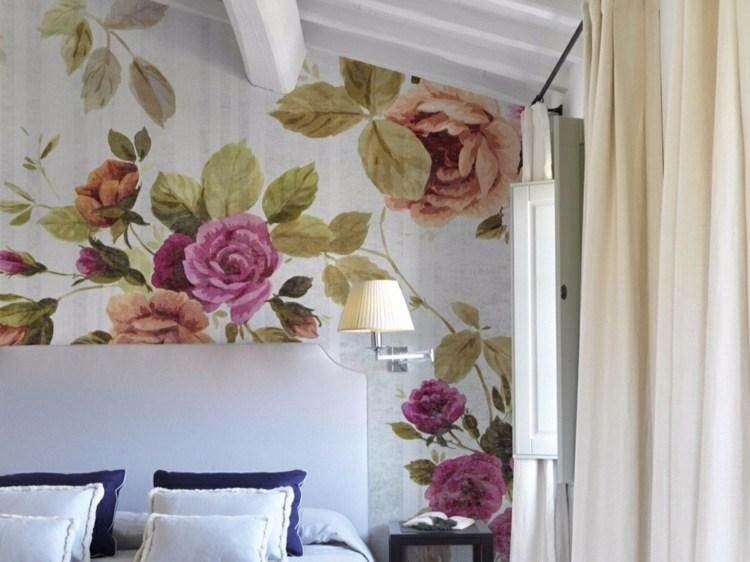 papel pintadi flores grandes