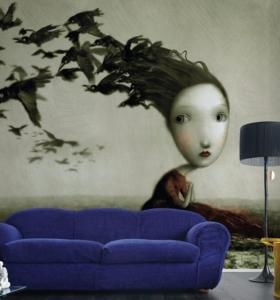 Revestimiento de paredes interiores creatividad y estilo - Papel pared salon ...