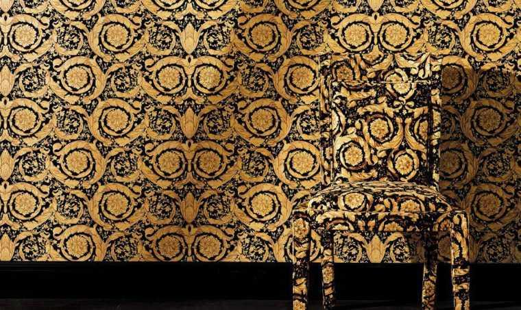 papel pintado Versace modelo barroco