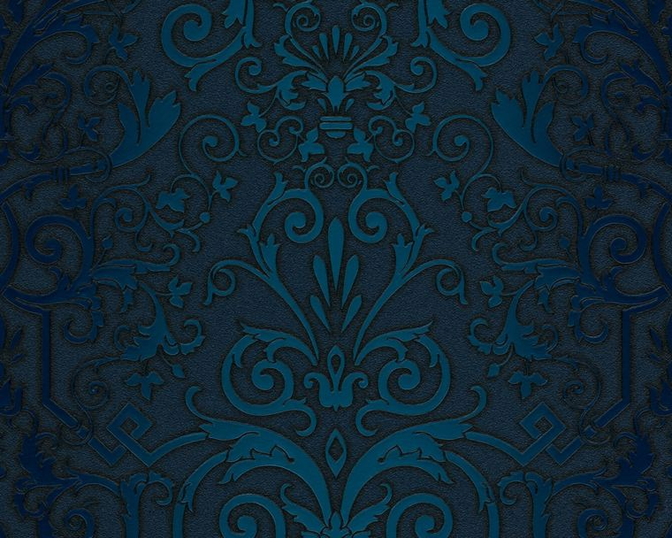 papel pintado versace color azul