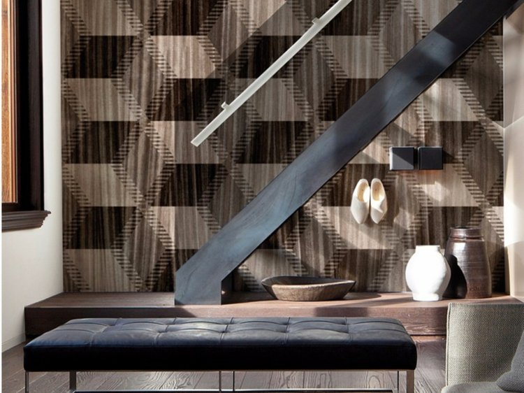 papel salon pared precioso marron ideas