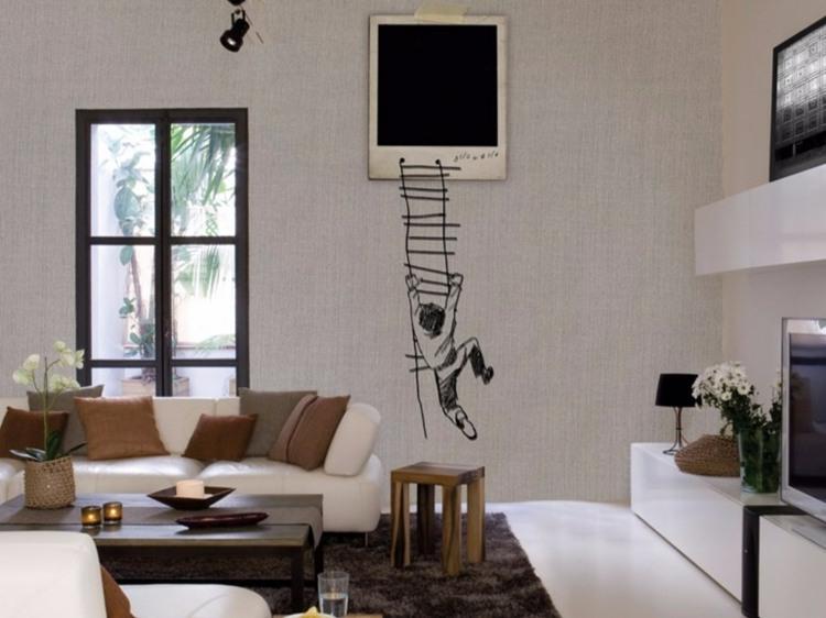 papel-salon-paredmesita-madera-sofa-blanca