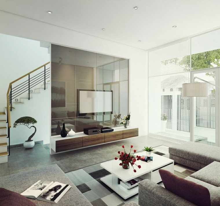 pared brillante salon lumos casa ideas