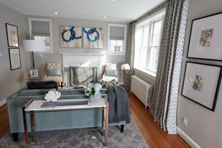 Colores para pintar un salon en 50 espacios diferentes for Diferencia entre halla y living room