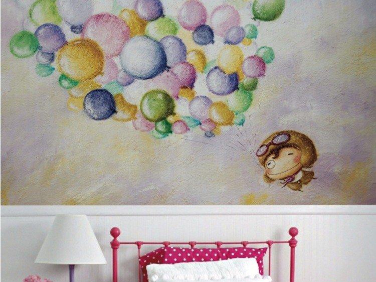 paredes diseño soluciones texturas globos contraste