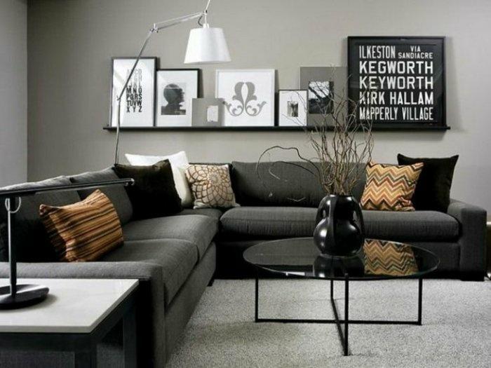 paredes estilo cuadros letras color negro