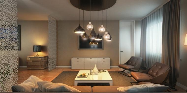 paredes salon televisor acento disenos simples ideas