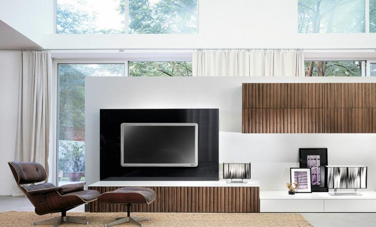 pared salon televisor acento lujoso ideas
