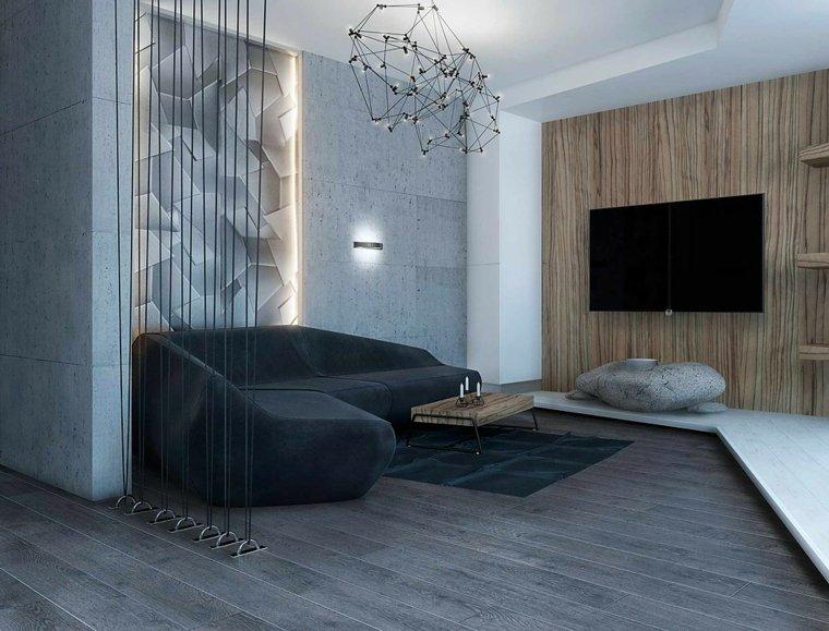 pared salon televisor acento pared madera ideas
