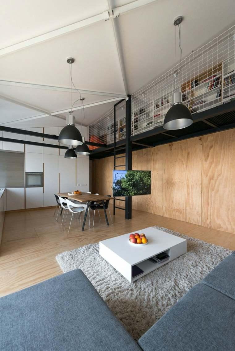 paredes salon televisor acento loft columna ideas