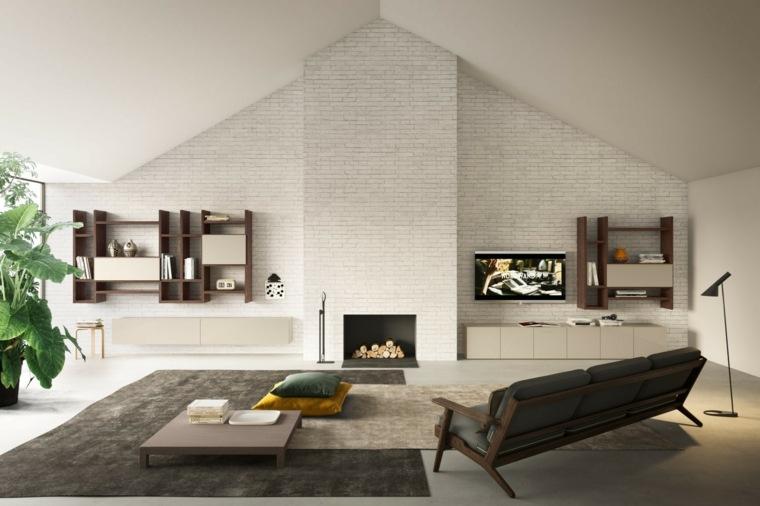 Paredes 50 opciones de televisores en el sal n for Arredo design