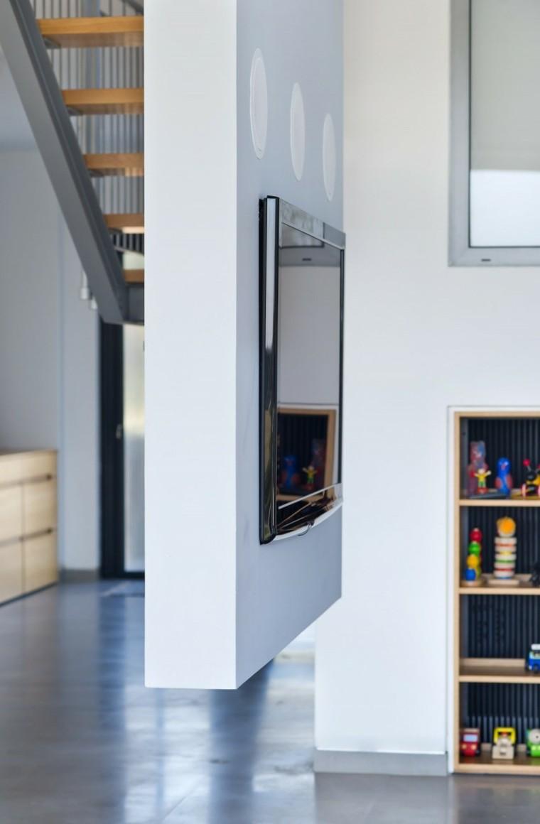 pared salon televisor opciones Sharon Neuman Architects ideas