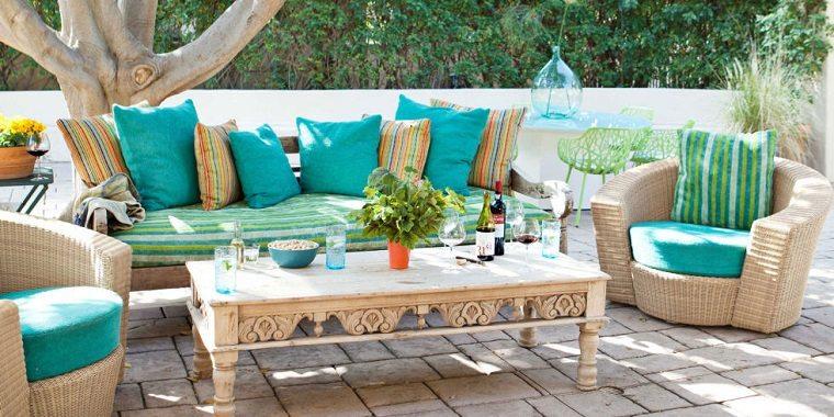 bonito conjunto muebles jardín