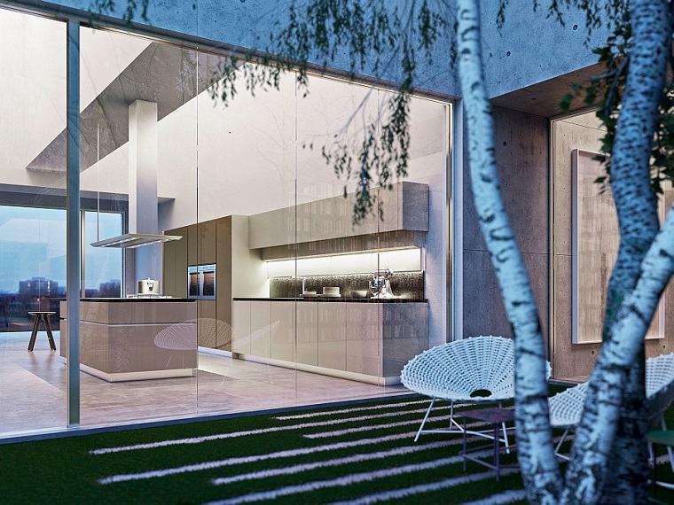 patio moderno muebles mimbre