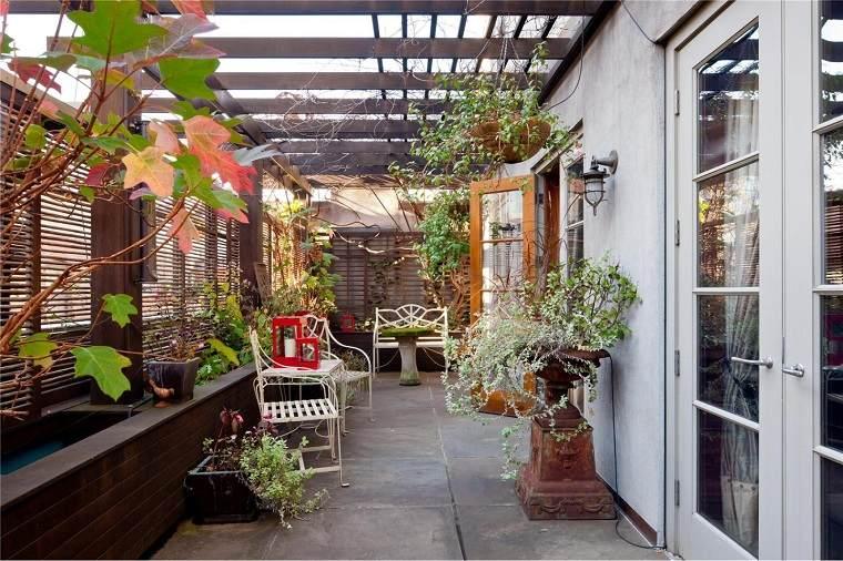 patio terraza techo ventilado moderno