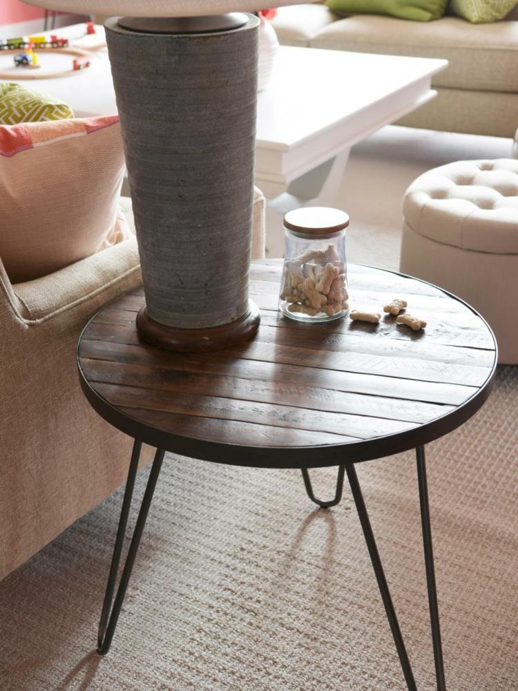 pequeña madera natural estilos metalica combinada