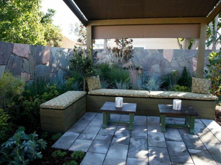 pergola jardin distintas plantas ideas