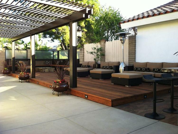 pergola madera contraste decora piscina soluciones