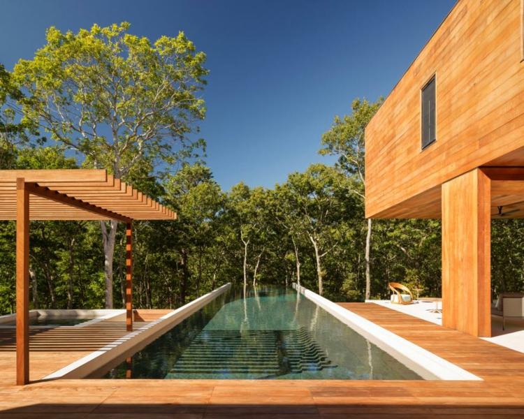 pergola madera piscina solares agua arboles