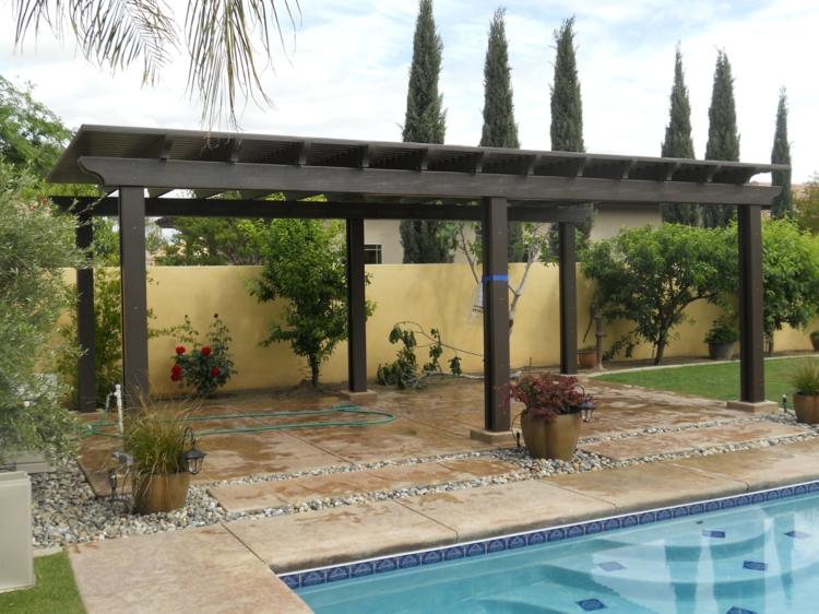 piscinas decoracion exteriores casas blancos flores