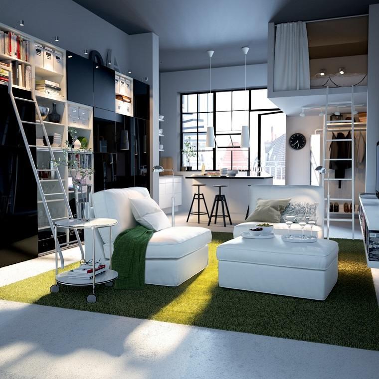 Decoracion apartamentos peque os cincuenta ideas for Decoracion antejardin pequeno