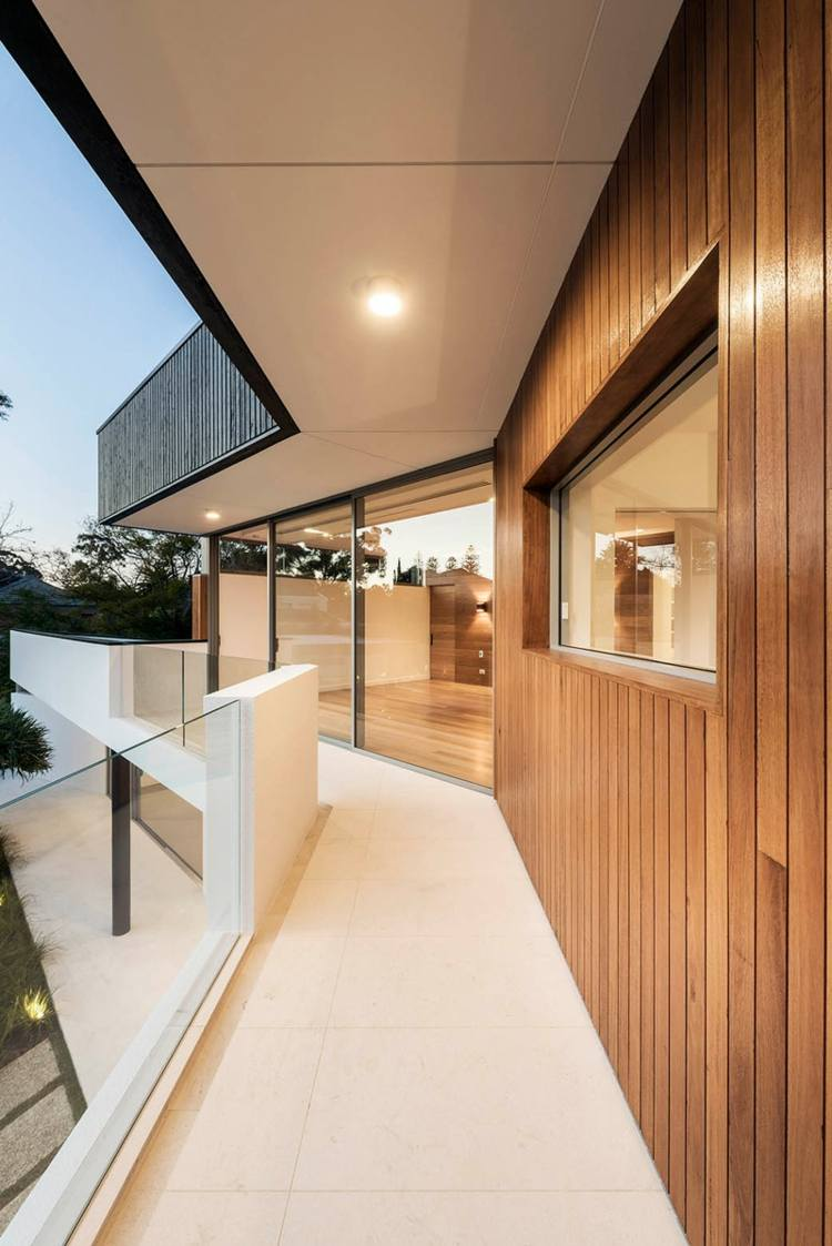 planta madera casas vidrios balcones maderas