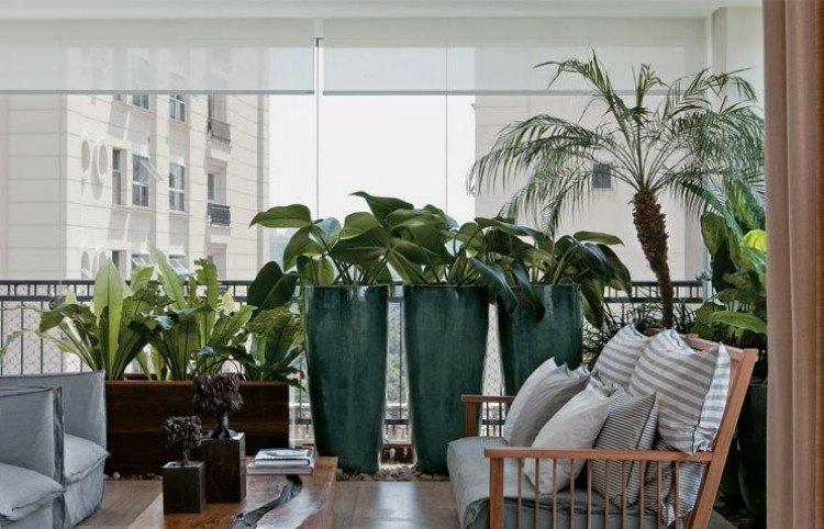 plantas altas planters decorados diseños sillones