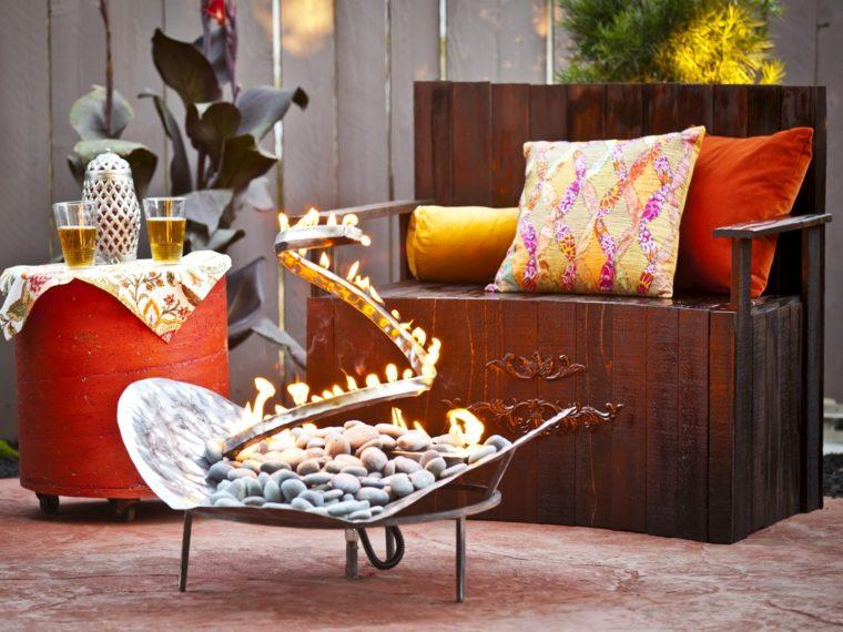 plato fuego precioso espacio aire libre ideas