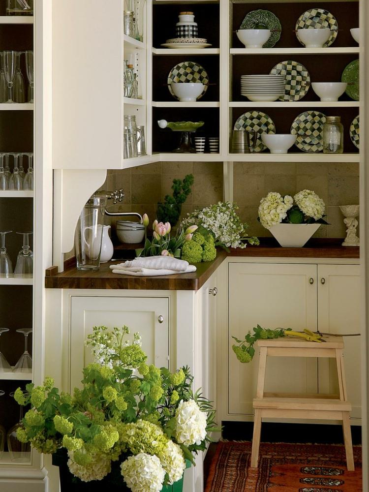 platos plantas hojas ventanales abierto verde