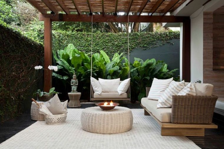 Decoracion de balcones y terrazas peque as 99 ideas for Muebles para porches