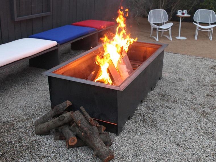 pozo fuego acero negro suelo arcilla ideas