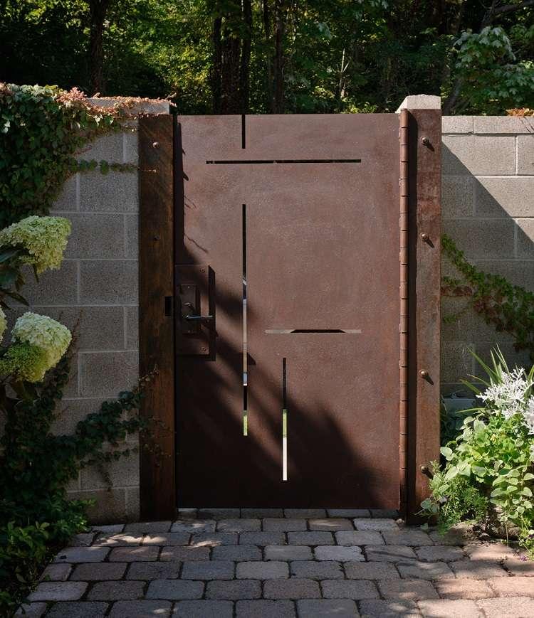 puerta acero Corten diseño