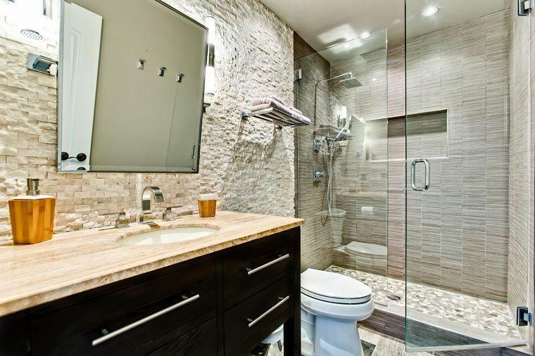 Baños Con Estilo Rustico:Decoracion vintage de interiores, 50 creaciones para el hogar