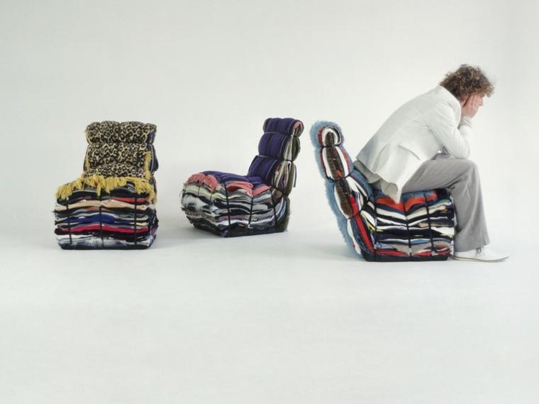 ropa vieja atada forma sillones