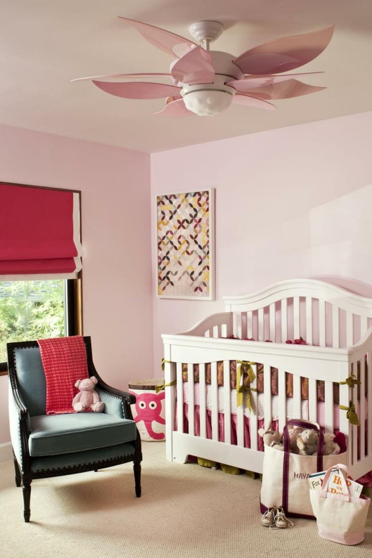 rosa casas niñas habitaciones cuna