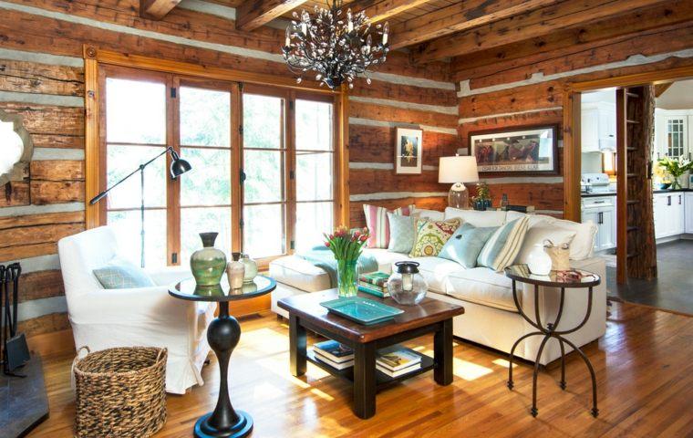 salón madera bonito rústioco diseño