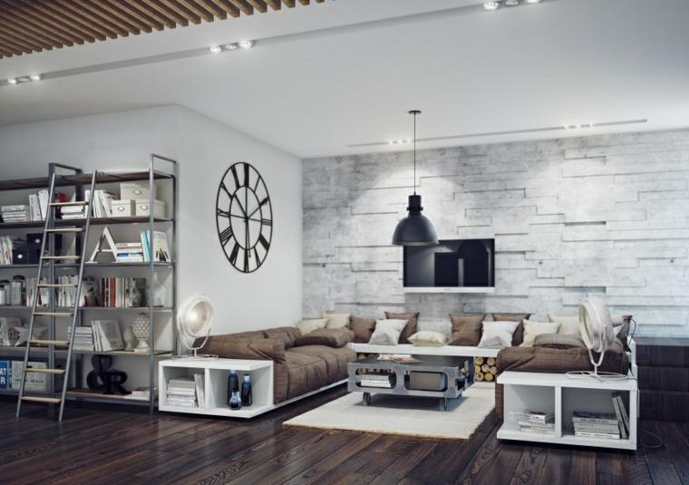 sala de estar diseño industrial